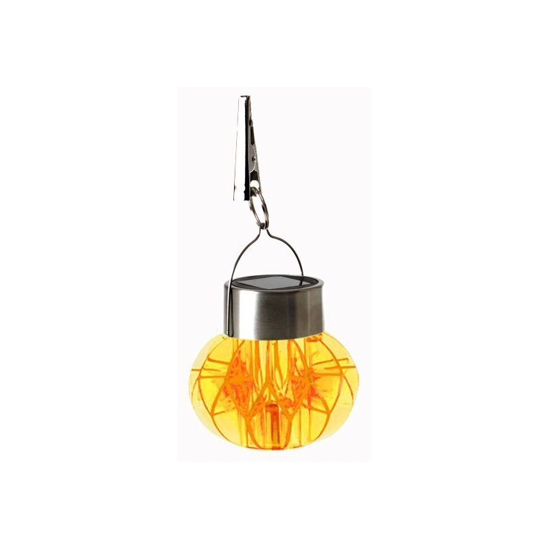 lampe solaire suspendre orange inox luminaire ext rieur ac deco. Black Bedroom Furniture Sets. Home Design Ideas
