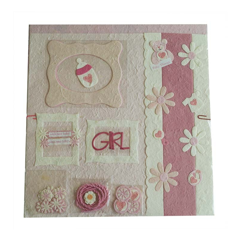kit scrapbooking naissance fille rose ac deco. Black Bedroom Furniture Sets. Home Design Ideas