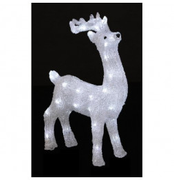 Décoration lumineuse Renne - 40 LED blanc froid