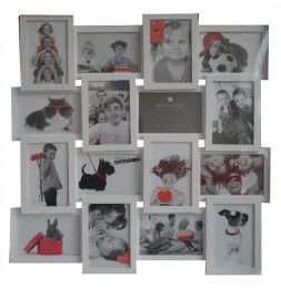 Pele-mele -  16 photos 10 x 15 cm standards - Blanc