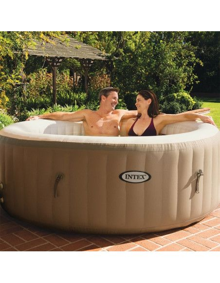 Spa rond gonflable - Intex - Marron