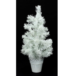 Sapin artificiel de table blanc - H 45 cm