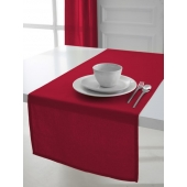 Chemin de table coton 50 x 150 cm - Rouge - Linge de table