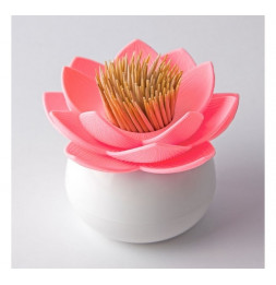 Porte piques apéritif ou cure-dents - Lotus rose - Qualy