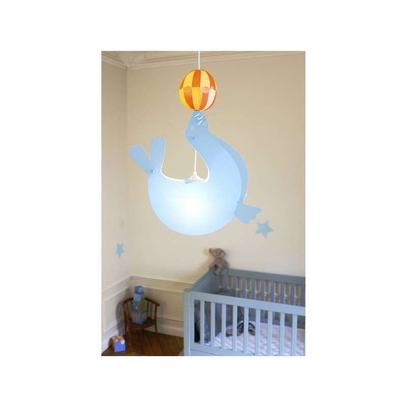 Suspension otarie avec ballon bleu ac deco for Suspension chambre d enfant