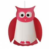 Suspension hibou - Rose