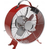 Ventilateur vintage de table - 2 vitesses - Rouge