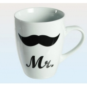 Mugs Mr & Mrs - Coffret de 2 tasses