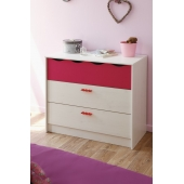 Commode - Lolita - Rose - l 90 x P 44 x H 76 cm