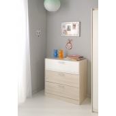 Commode - Charly - Acacia - l 78 x P 40 x H 82 cm