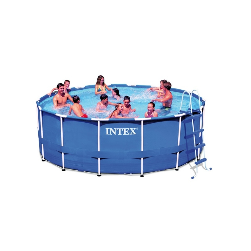Piscine tubulaire ronde 3 66 x 0 99 m intex ac deco for Piscine hors sol intex ronde