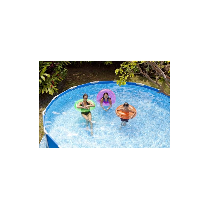 Piscine tubulaire ronde intex awesome piscine tubulaire for Auchan piscine intex