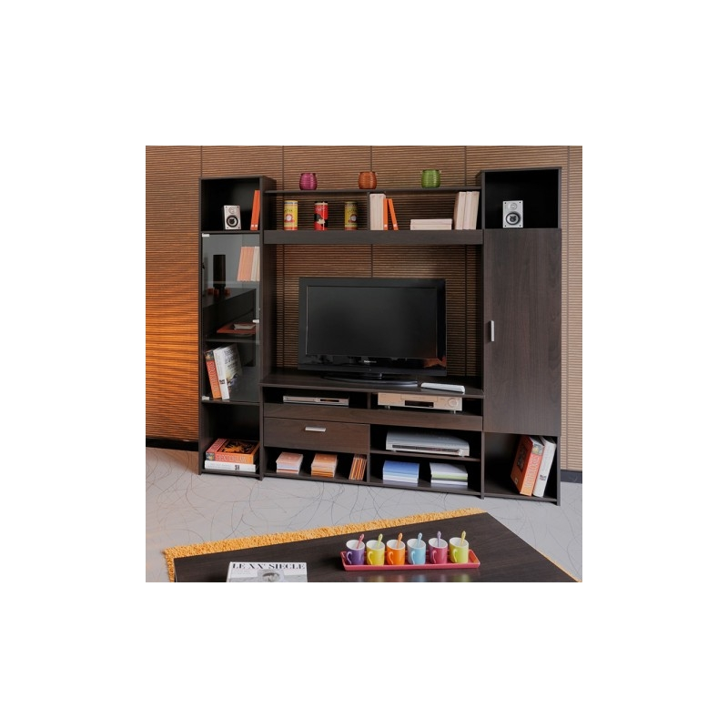 meuble tv haut amber l 191 x p 43 x h 180 ac deco. Black Bedroom Furniture Sets. Home Design Ideas