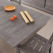 2 allonges-table - Titan - Gris - l 90 x P 53.5 x H 3 cm
