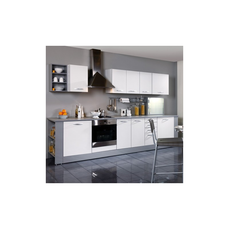 meuble haut de cuisine smoothy season blanc l 60 x p 35 x h 35 cm ac deco. Black Bedroom Furniture Sets. Home Design Ideas