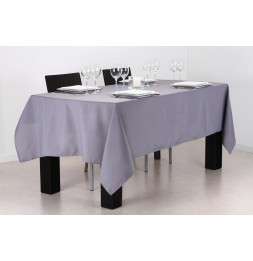 Nappe anti taches rectangulaire 140 x 240 cm - Gris