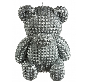 Bougie - Ours assis - 14 cm