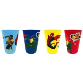 Verres de 280 ml - Lot de 4 - Spider Man