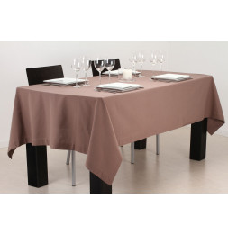 Nappe anti taches rectangulaire - 140 x 240 cm - Taupe