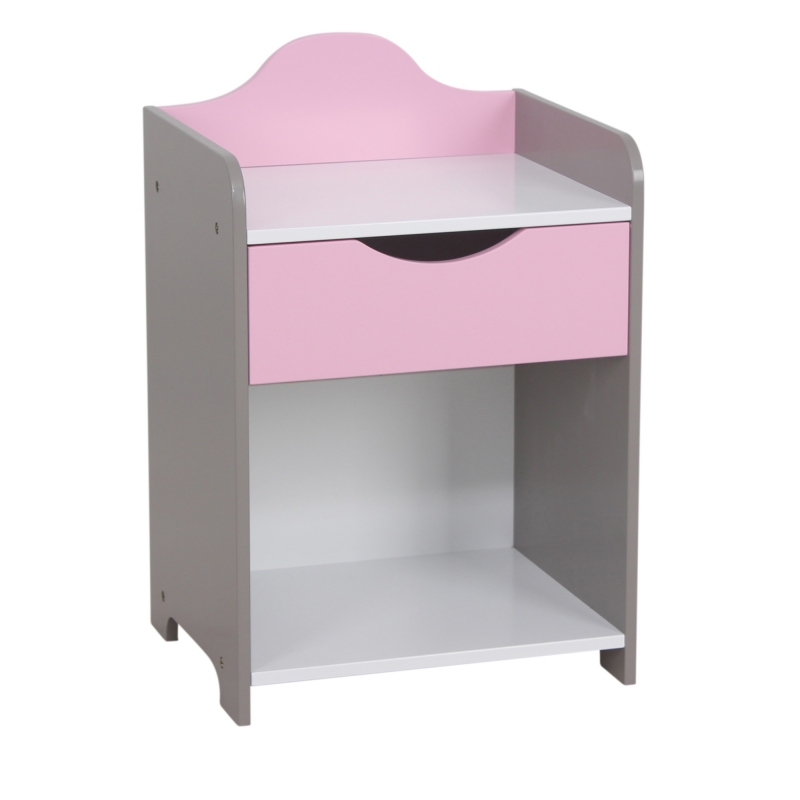 Table de chevet rose bois ac deco - Table de chevet rose ...