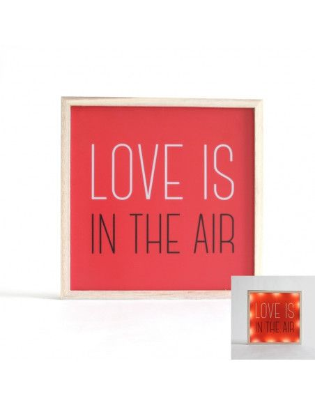 "Décoration lumineuse - "" Love is in the air "" - Carré"