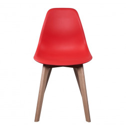 Chaise scandinave - Rouge