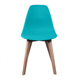 Chaise scandinave - Turquoise