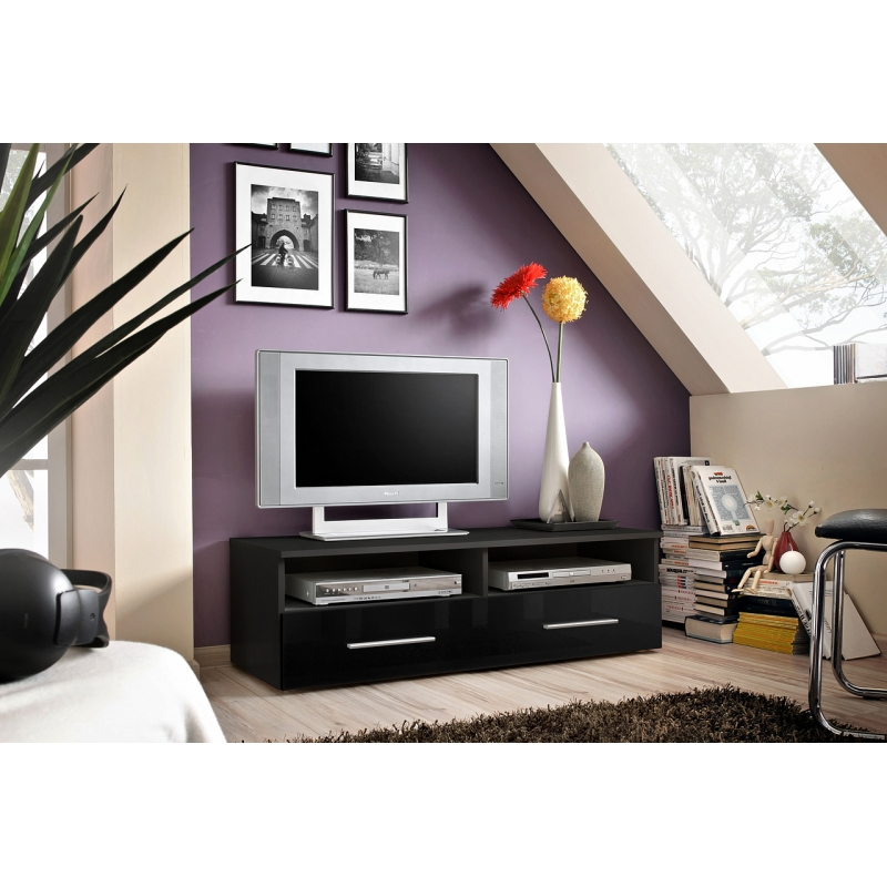 banc tv bern 120 cm x 37 cm x 45 cm noir ac deco. Black Bedroom Furniture Sets. Home Design Ideas