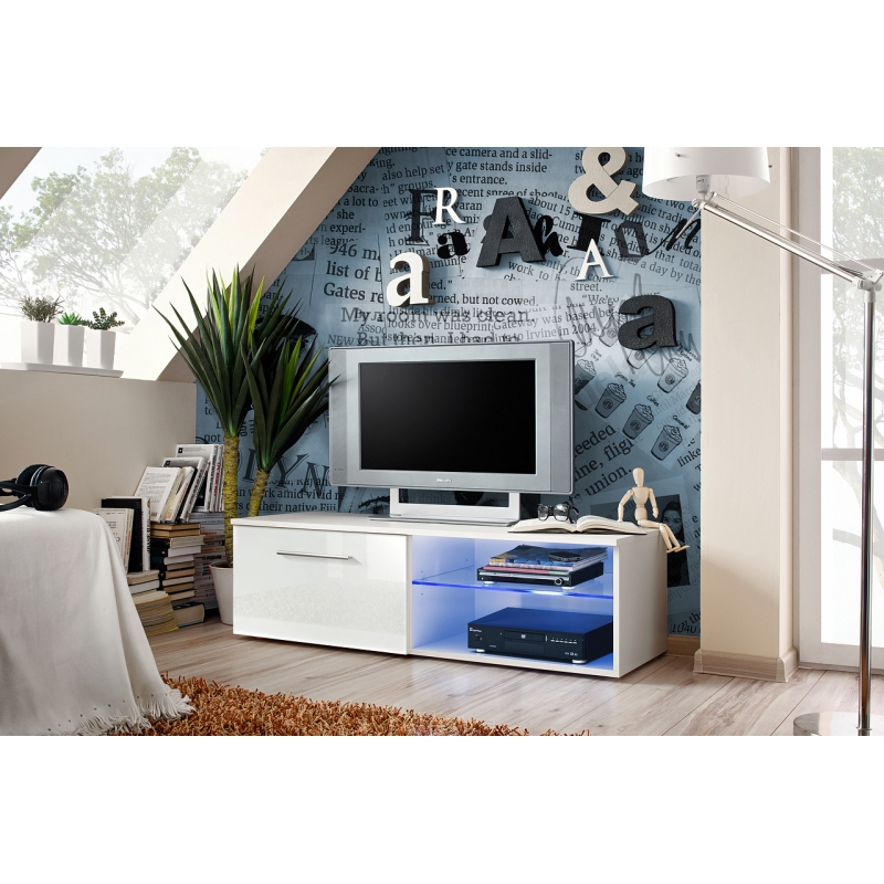 banc tv bono iv 120 cm x 37 cm x 45 cm blanc ac deco. Black Bedroom Furniture Sets. Home Design Ideas