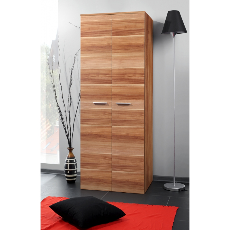 armoire penderie 2d 70 cm x 55 cm x 190 cm prunier. Black Bedroom Furniture Sets. Home Design Ideas