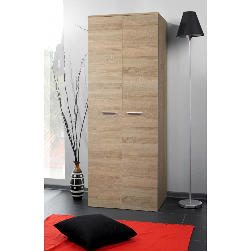 armoire penderie 2d 70 cm x 55 cm x 190 cm ch ne. Black Bedroom Furniture Sets. Home Design Ideas