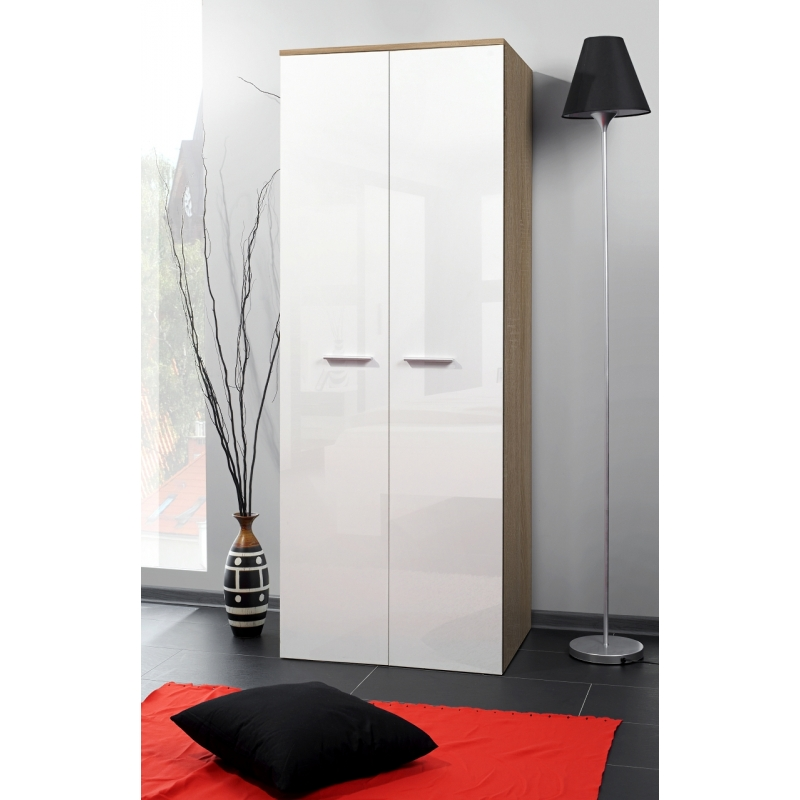 armoire penderie 2d 70 cm x 55 cm x 190 cm ch ne et. Black Bedroom Furniture Sets. Home Design Ideas