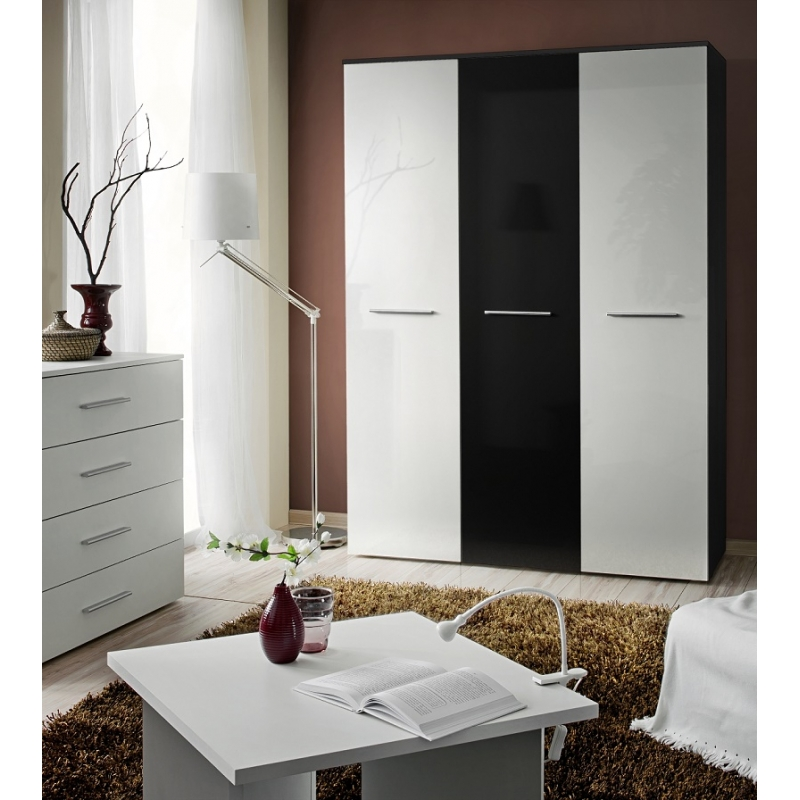 armoire penderie big v 135 cm x 55 cm x 190 cm noir. Black Bedroom Furniture Sets. Home Design Ideas