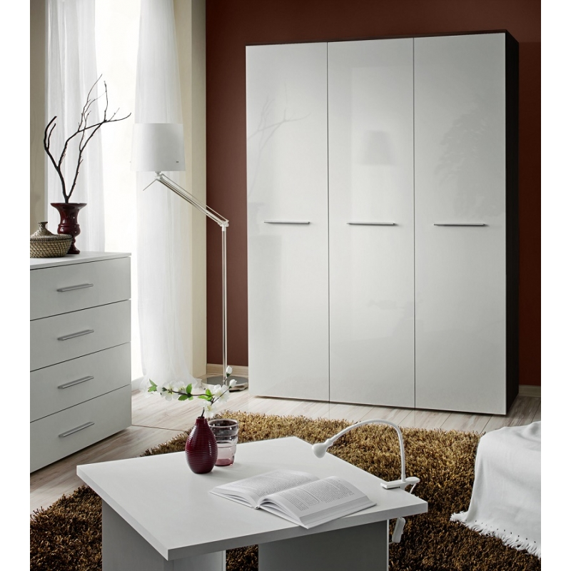 Armoire penderie big v 135 cm x 55 cm x 190 cm weng for Armoire penderie wenge