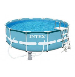 Kit piscine tubulaire ronde - Metal Frame - 4,57 m x 0,84 m - Intex
