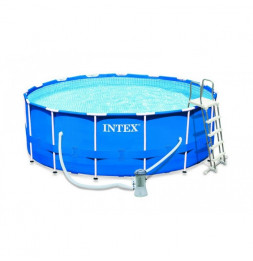 Kit piscine tubulaire ronde - Metal Frame - 4,57 m x 1,22 m - Intex