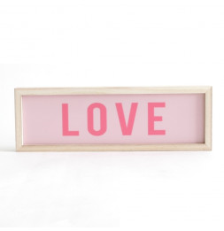 "Décoration lumineuse - ""Love"" - Rectangle"