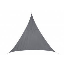 """Toile solaire triangle """"Curacao"""" - 200 x 200 x 200 cm - Polyester - Gris"""