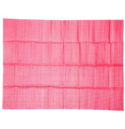 Natte de plage rectangle - 153 x 198 cm - Plastique - Rose