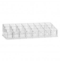 Organiseur make-up 24 compartiments - 22,4 x 9,5 x 5 cm - Polystyrène transparent