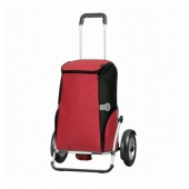 Chariot de courses Royal Shopper Plus Rune - 58 x 24 x 108 cm - Aluminium - Rouge