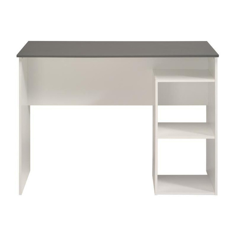 bureau avec cubes 101 x 50 x 75 cm panneau de particules blanc ac deco. Black Bedroom Furniture Sets. Home Design Ideas