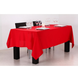 Nappe anti taches rectangulaire 140 x 240 cm - Rouge