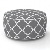 Pouf gonflable - In and out - D 53 cm x H 23 cm - Gris