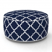Pouf gonflable - In and out - D 53 cm x H 23 cm - Bleu