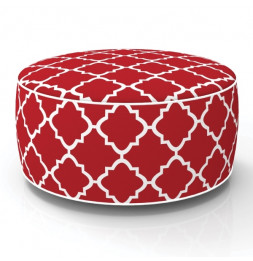 Pouf gonflable - In and out - D 53 cm x H 23 cm - Rouge