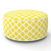 Pouf gonflable - In and out - D 53 cm x H 23 cm - Jaune
