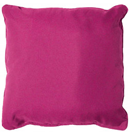 Coussin finition Passepoil - 60 x 60 cm - Rose