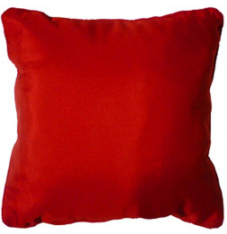 Coussin finition Passepoil - 60 x 60 cm - Rouge