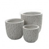 Pots de fleurs - Strate - Lot de 3 - Sable